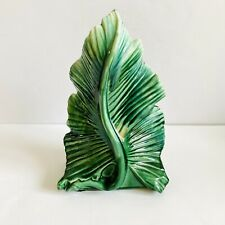 Green Glaze Ceramic Leaf Tropical Beach Home Office Decor 13�
