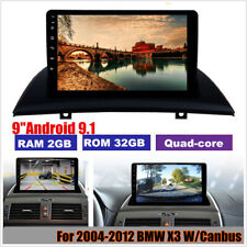 """9"""" Android 9.1 Quad-core Car Stereo Radio 2+32GB For 2004-2012 BMW X3 E83+Canbus"""