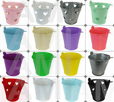 MINI & LARGE COLOURED METAL WEDDING FAVOURS PAILS BUCKETS GIFT TABLE DECORATIONS