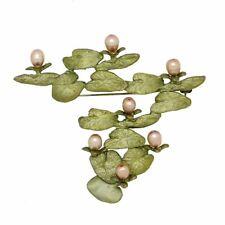 Waterlilies Monet Brooch Pin by Michael Michaud Nature Silver Seasons 5983