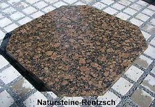 Tischplatte Naturstein Baltic Brown achteckig Granitplatte Gartentisch aussen