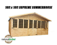 16FT x 10FT SUMMER HOUSE SUPREME LOG CABIN OFFICE BAR SHED HIGH QUALITY TIMBER