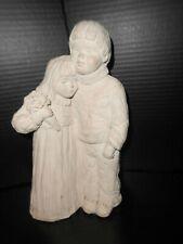 1987  Austin stone Sculpture Dee Crowley Bright Eyes   Girl & Boy