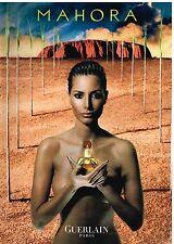 """Publicité Advertising 2000 Parfum """"Mahora"""" par Guerlain"""