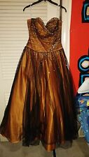 Orange&Black Ball Gown/Prom Dress.