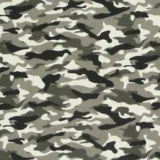 Dekostoff Camouflage Tarn Stoff grau schwarz