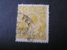 *Australia, Scott # 34, 4p. Value Olive Bister 1914-24 Kgv Issue. Used