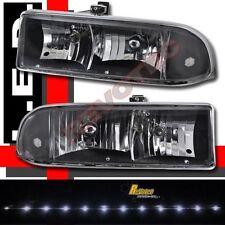 1998-2004 Chevy S10 Pickup / Blazer LED Headlights Black RH + LH