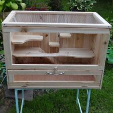 Hamsterkäfig Hamsterburg Kleintier Holz Terrarium Stall Kleintierkäfig 🐹
