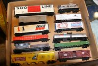 HO scale 12 freight rolling stock used in good condition with reg couplers