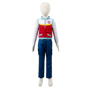 Captain Ryder Cosplay Kids Costume Shirt Vest Pants Child Outfit Full Set Gift