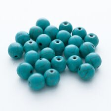 10 perle 8mm Naturel Pierre Turquoise creation bijoux, bracelet, collier