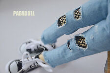 New Net Holes Jeans Pants for BJD1/4 MSD 1/3 SD16 DD IP SD Doll Clothes CWB85