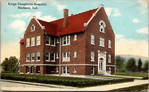 Postcard Kings Daughters Hospital in Madison, Indiana~3156