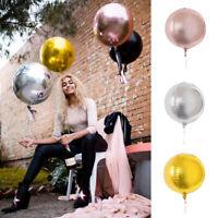 10Pcs 10Inch Round Shape Aluminum Foil Balloon Wedding Birthday Party Decor Acc