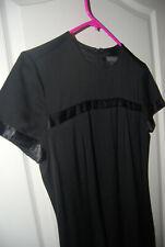 BANANA REPUBLIC black HIGH NECK cap sleeve fitted zip mini evening DRESS 2 4 NEW