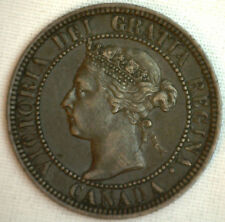 1901 Copper Canadian Large Cent Coin 1-Cent Canada XF #25