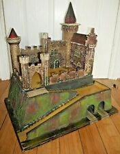 ANTIQUE TOY FORT CASTLE EARLY 20th CENTURY VERY RARE GERMAN HANDMADE ?  G722