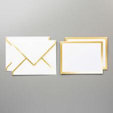 Stampin Up Gold Foil Edged Cards & Envelopes - Set of 20
