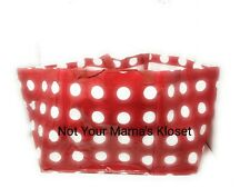 NEW IKEA Betsel Large Red White Polka Dot Reusable Shopping Bag Tote Frakta