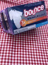 Bounce WrinkleGuard 3x Mega Sheets Iron Less Reduce Static Extra Softness 120ct