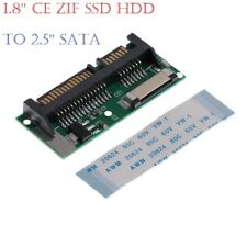 "1.8"" LIF ZIF CE SSD HDD to 7+15 Pin SATA Adapter Converter Cable Lead UK A++"