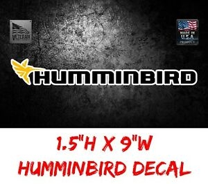 "Humminbird Logo 9"" Decal Sticker Tackle Box Lure Fishing Boat Truck trailer USDM"