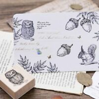 Wooden Animal Plant Diary Albums DIY Craft Standard Stamp Stamp Decoration