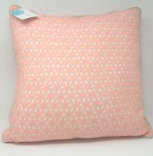 """Martha Stewart Collection Embroidered Eyelet 18"""" Decorative Pillow - Coral"""