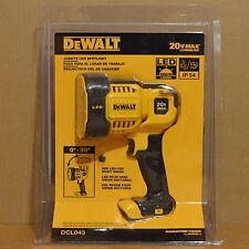 Brand New DEWALT DCL043 20V MAX Cordless Jobsite LED Spotlight Flashlight