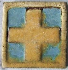 Antique Grueby Pardee Tile Arts & Crafts Art Deco Pottery Mission Vintage Cross