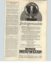 1925 Paper Ad Boyce Moto Meter  Moto Meter Company Long Island NY