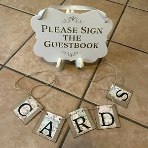 graduation wedding baby shower guest sign cards party decor