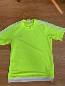 Medium Mens Adidas Climalite Estro 15 T-Shirt Top Solar Yellow Running Football