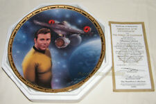 Star Trek POWER OF COMMAND Series CAPTAIN KIRK & ENTERPRISE Plate ~ Birdsong
