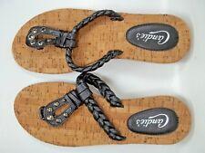 27d32ab6234d3 CANDIES Black Straps Sandals Flip Flops Womens sz. 7 8