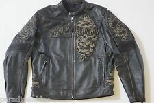 Harley Davidson Men Elemental 360 Leather Jacket 2XL Reflective Skull 97064-11VM