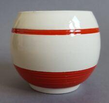 Rare Red Sadler Kleen Kitchen Ware Preserve Jam Pot Sugar Bowl Kleenware B3