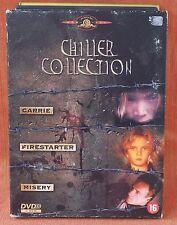 CHILLER COLLECTION - CARRIE - FIRESTARTER - MISERY --  *** 3 MOVIE BOX ***