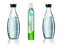 SodaStream  Reservepack 1 ALCo2-Jet 60 L & 2 Glaskaraffen 0,6l