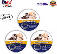 Flea and Tick Collar for Dogs & Cats 3pk. (Lasts 8 Months) All Natural! (Large)