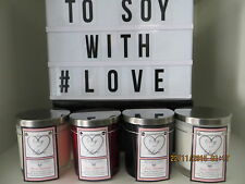 Triple Scented Soy Candles - Large - weighs approx 700gm - COURIER DELIVERY