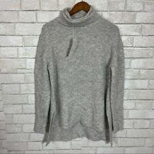 Womens Large Sweet Romeo Chunky Knit Turtleneck Heather Grey Pullover Sweater