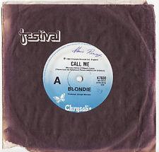 BLONDIE - CALL ME  Very rare 1980 Aussie Single Release! EX-