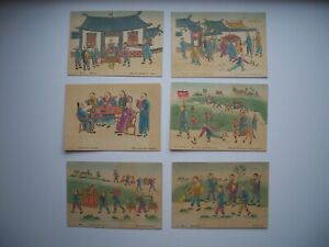 Lot of 6 Postcard Scene in Chefoo China