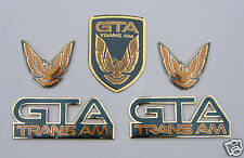 NEW 91-92 GTA Trans Am Emblem 5pc Set (DARK GRAY GREEN)
