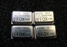 FOX Electronics F1100E-100 Oscillator 10MHz 5V TTL, DIP-14, Qty.4