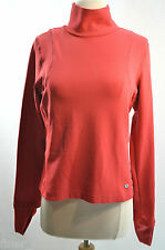Pearl iZUMi Top Red Layering turtleneck cycling athletic hand cover womens M NEW