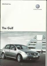 VW VOLKSWAGEN GOLF S, se, SPORT, GT FSI, GT TDI & GTI BROCHURE vendite 2006