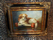 """King Charles Spaniel Museum Quality """"Masters Style"""" Reproduction Oil Painting"""